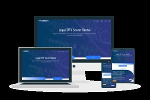 diseño web para una empresa de alquiler de servidores IPTV
